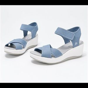 CLOUDSTEPPERS by Clarks Wedge Sport Sandals